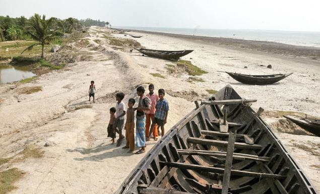 Mousuni, one of the 52 inhabited islands of the archipelago, and a vulnerable climate change hotspot, is sinking at a rapid pace. File photo. / The Hindu