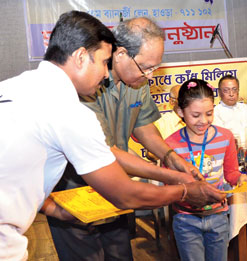 Prize distribution at Jatiya Sangha's programme