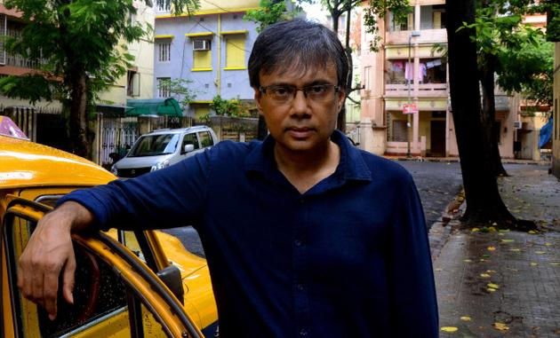 Author Amit Chaudhuri who is spearheading the protests to save the heritage buildings. / Photo: Sanjoy Ghosh / The Hindu