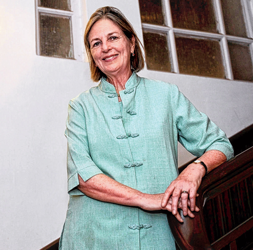 Baroness Tessa Blackstone at Bengal Club on Thursday evening. (Sanjoy Chattopadhyaya)
