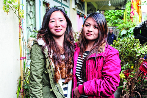 Trishala Gurung (left) and Sulaxchana Tamang. File picture