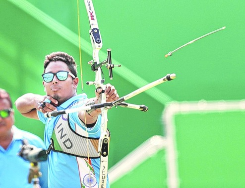 Atanu Das in action at the Rio Olympics on Tuesday