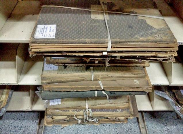 Historic documents lie in neglect in National Library. / Special Arrangement