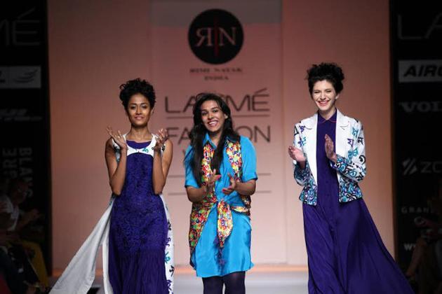 Designers Sayantan Sarkar and Rimi Nayak in Italy.