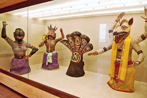 The revamped mask gallery at Indian Museum will reopen on Tuesday